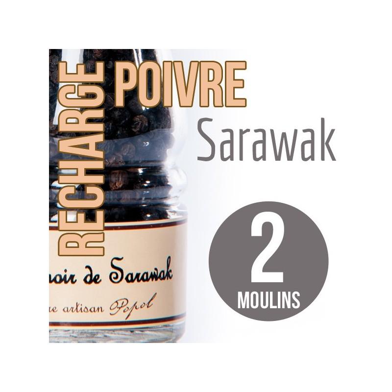 Poivre sarawak recharge pour 2 moulins 200g