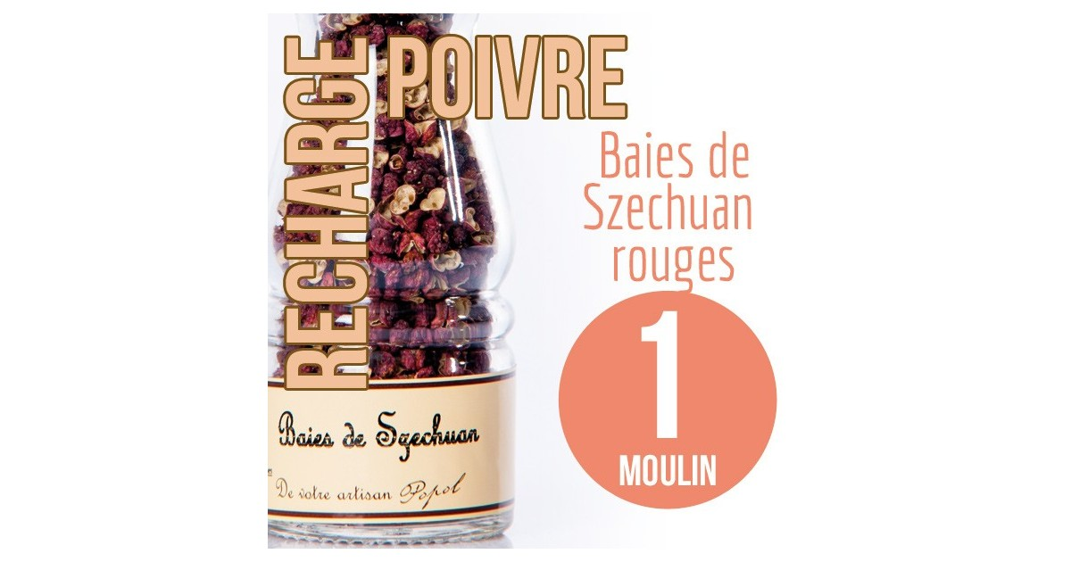 Baie szechuan rouge recharge 1 moulin 25g