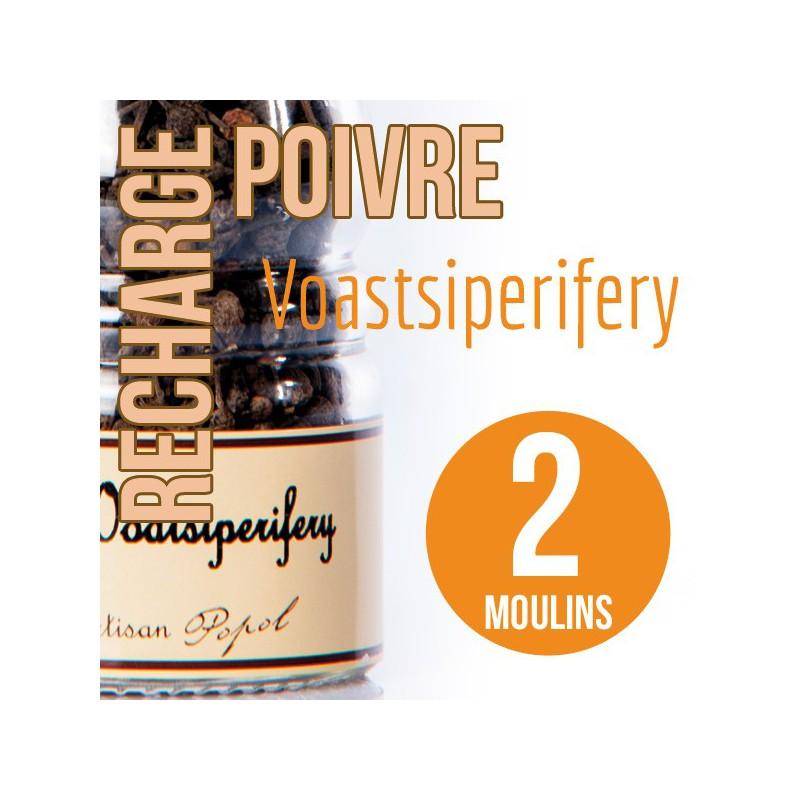 Poivre voastsiperifery recharge pour 2 moulins 100g