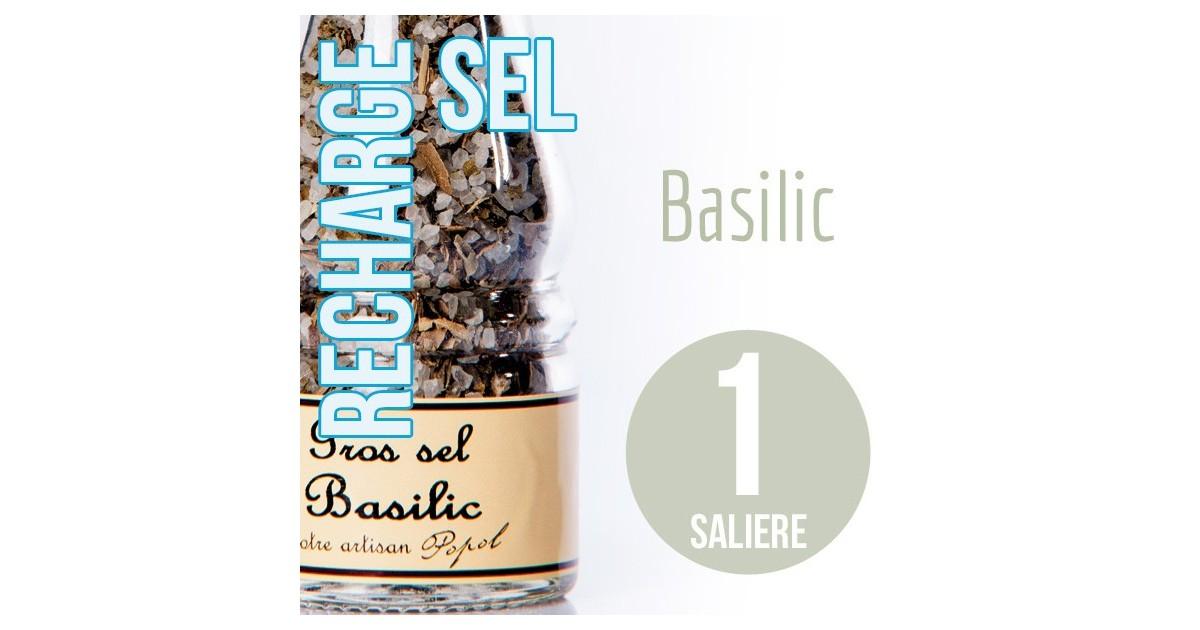 Sel basilic recharge  pour 1 salière 85g