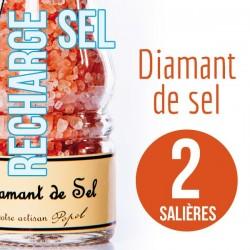 Sel diamant de sel pour 2 salières 230g