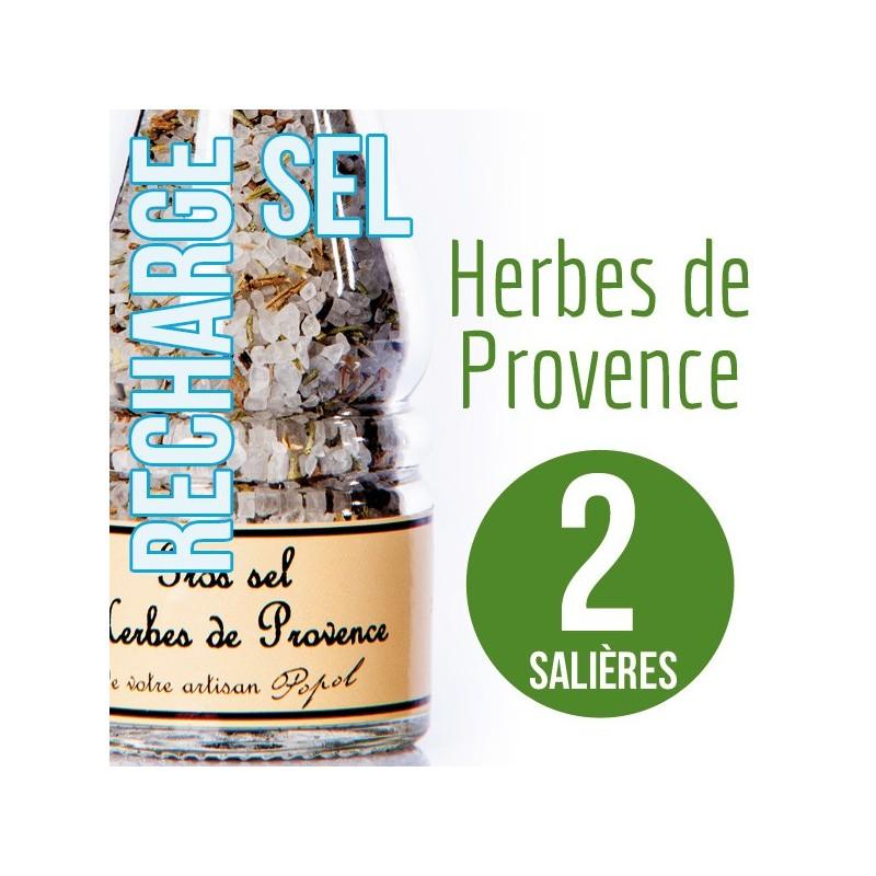Sel herbe de provence pour 2 salières 200g