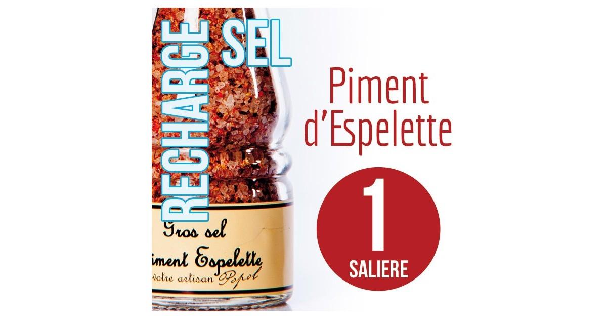 Sel piment d espelette pour 1 salière 115g