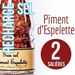 Sel piment d espelette pour 2 salières 230g