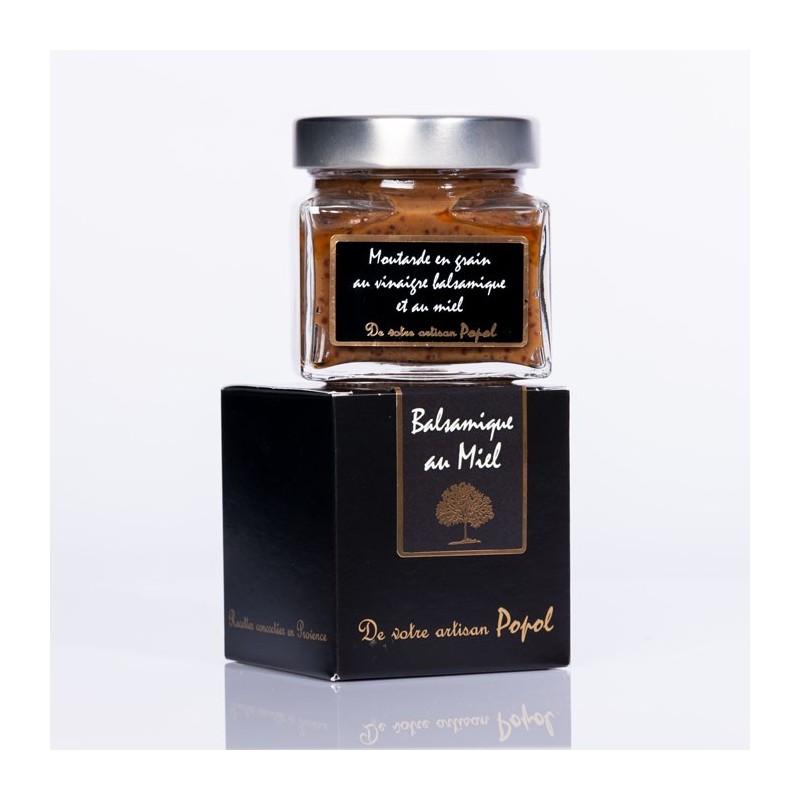 Moutarde à l ancienne balsamique au miel
