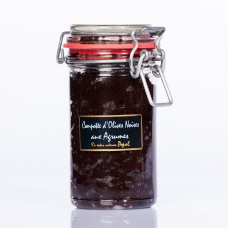 Compotée Olives noires Agrumes 220g