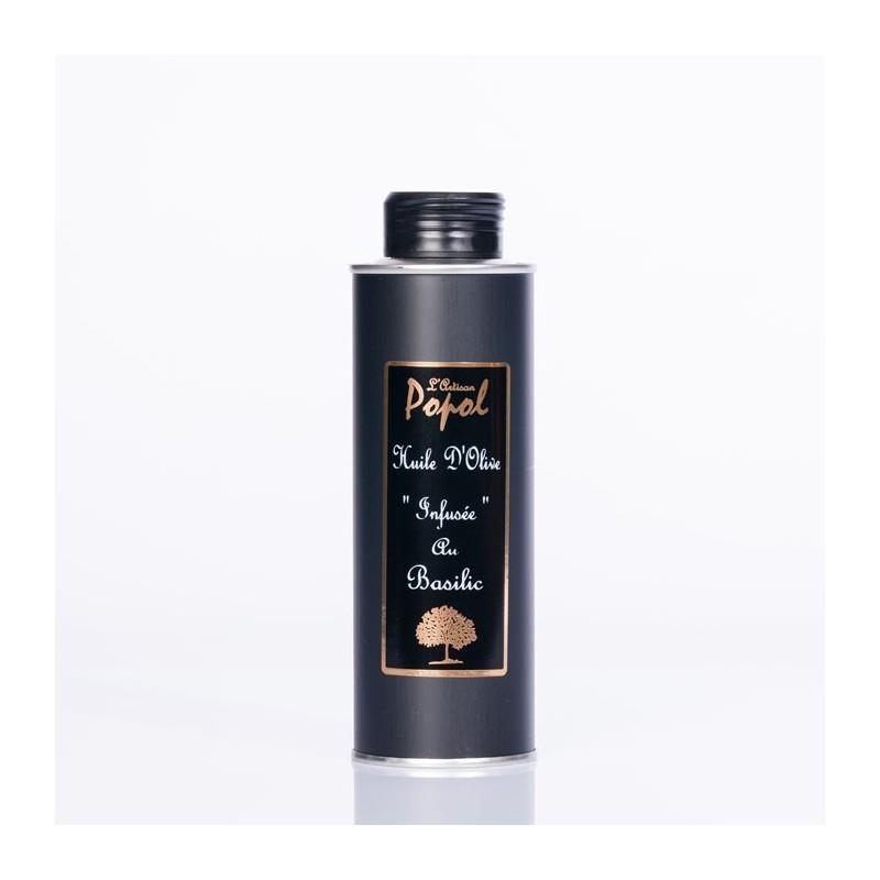 Bidon huile infusée basilic 250 ml rectangulaire