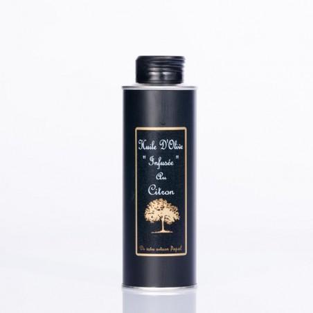 Bidon huile infusée citron 250 ml Rond noir