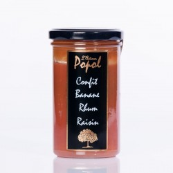 Confiture flash 300g banane rhum raisin